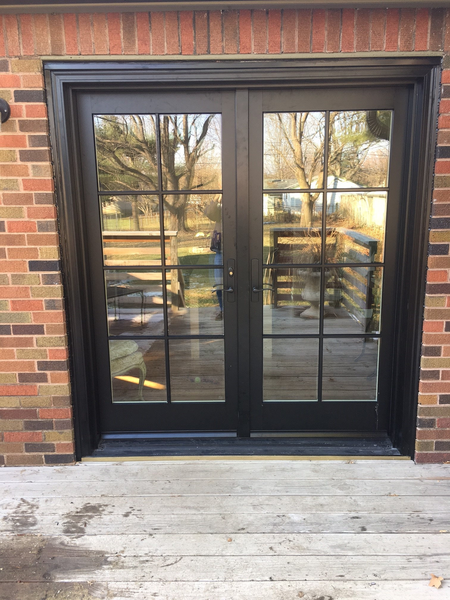 Pella french doors pricing best pella entry doors with for Black french doors exterior